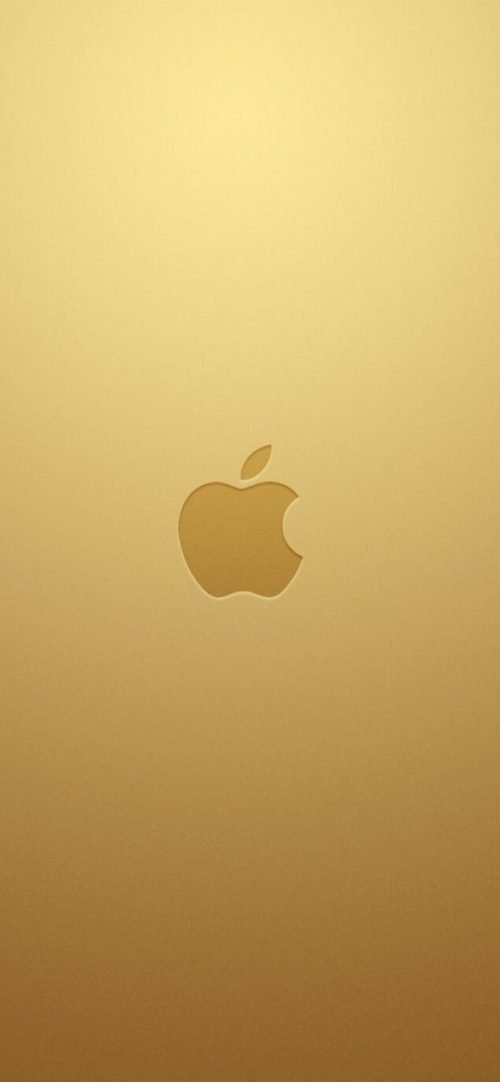 10 Alternative Wallpapers for Apple iPhone 11 - 05 - Gold Background and 3D Logo