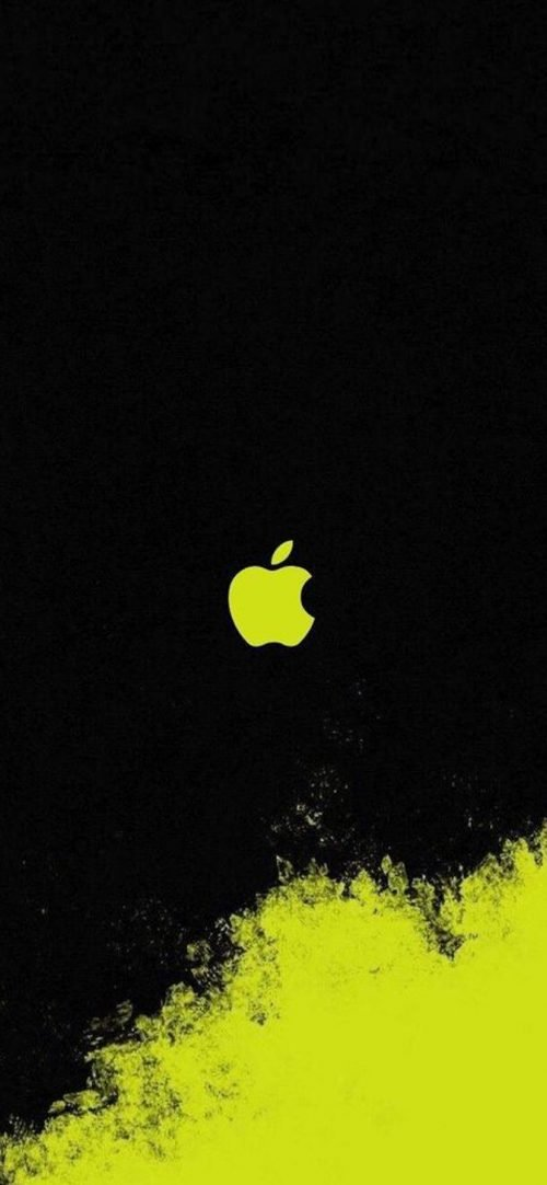 10 Alternative Wallpapers for Apple iPhone 11 - 10 - Black and Yellow Art Logo