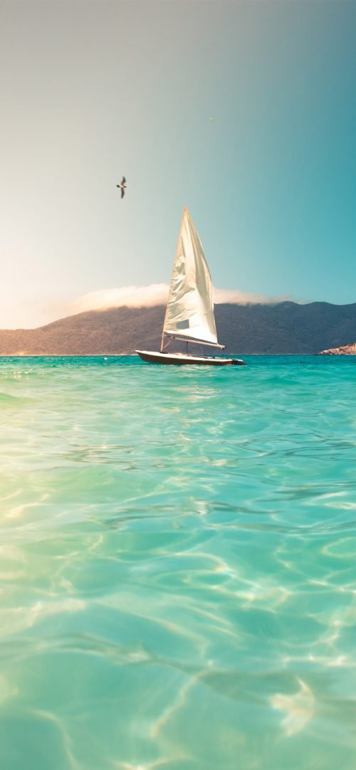 Beach Wallpaper for iPhone – 04 – Photo of Sailing Boat