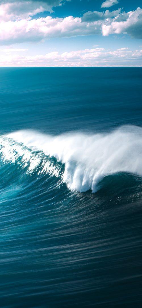 Beach Wallpaper for iPhone - 03 - Beautiful Wave Ocean Near Beach