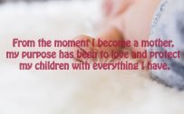 Top 20 Baby Quotes and Sayings for Mom 15 - From the moment I became a mother