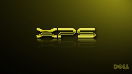 Top 20 Wallpapers for Dell Laptops - 02 - XPS Logo in Gold Color