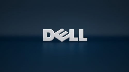 Top 20 Wallpapers for Dell Laptops - 08 - Dark Blue Background with Simple Logo