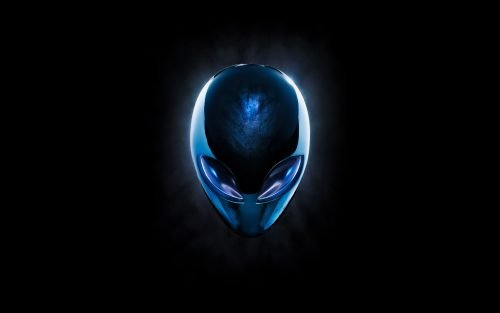 Top 20 Wallpapers for Dell Laptops - 17 - Dark Background and Blue Alien (Alienware Wallpaper)