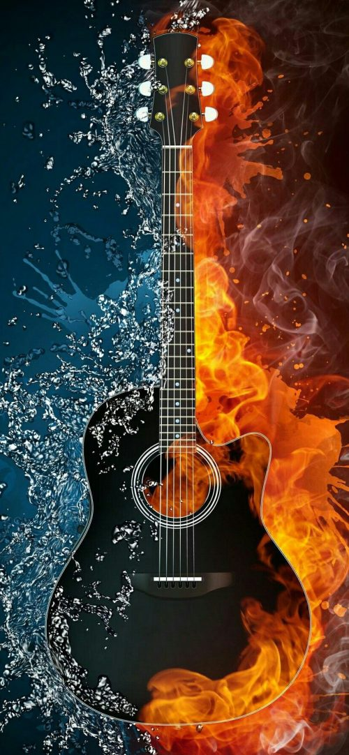 Free iPhone 11 wallpaper download 01 of 20 - Guitar Art Picture
