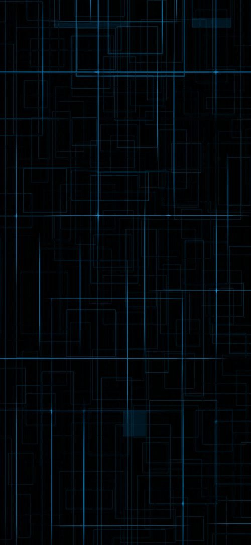 Cool Phone Wallpapers for Top 10 Smartphones - 07 - Xiaomi Black Shark 3 Pro Dark Background and Blue Geometric Lights