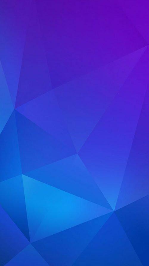 Apple iPhone SE Wallpaper 11 0f 50 - Blue Polygonal