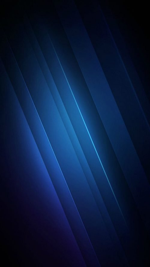 Apple iPhone SE Wallpaper 13 0f 50 - Diagonal Blue Lights in a Dark Background