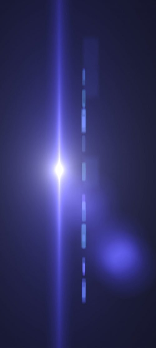 Dark Background with 3D Lights for Samsung A51 Wallpaper - 08 of 10 - Lens Flare
