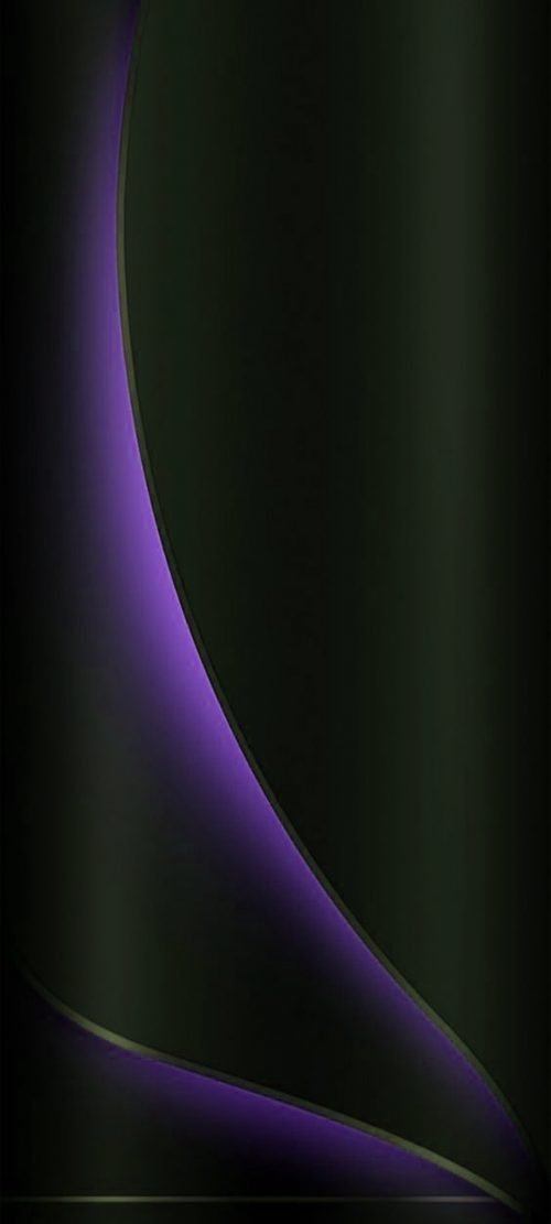 Dark Background with 3D Lights for Samsung A51 Wallpaper - 09 of 10 - Purple Lights