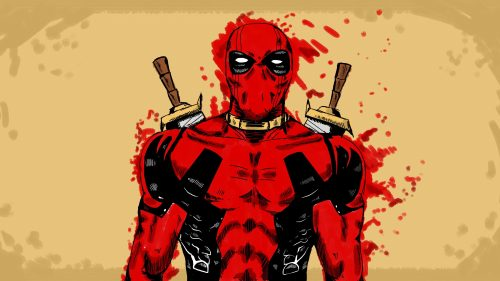 Marvel HD Wallpaper in 4K with Artistic Deadpool Picture in Cartoon