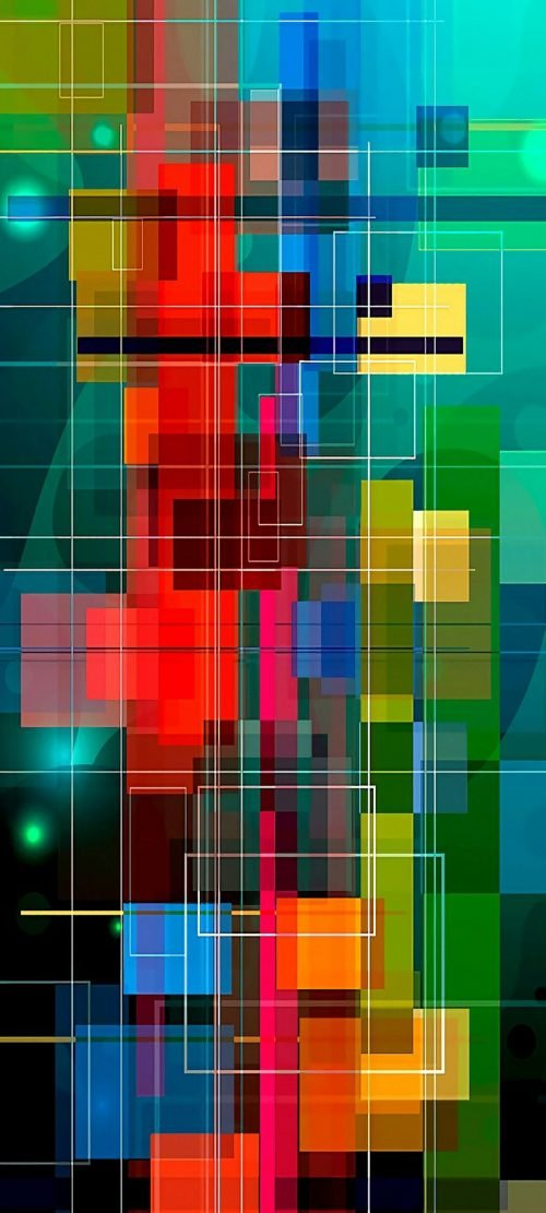 10 Wallpapers That Will Look Perfect on Your Samsung Galaxy S20 - #03 - Abstract Colorful Squares