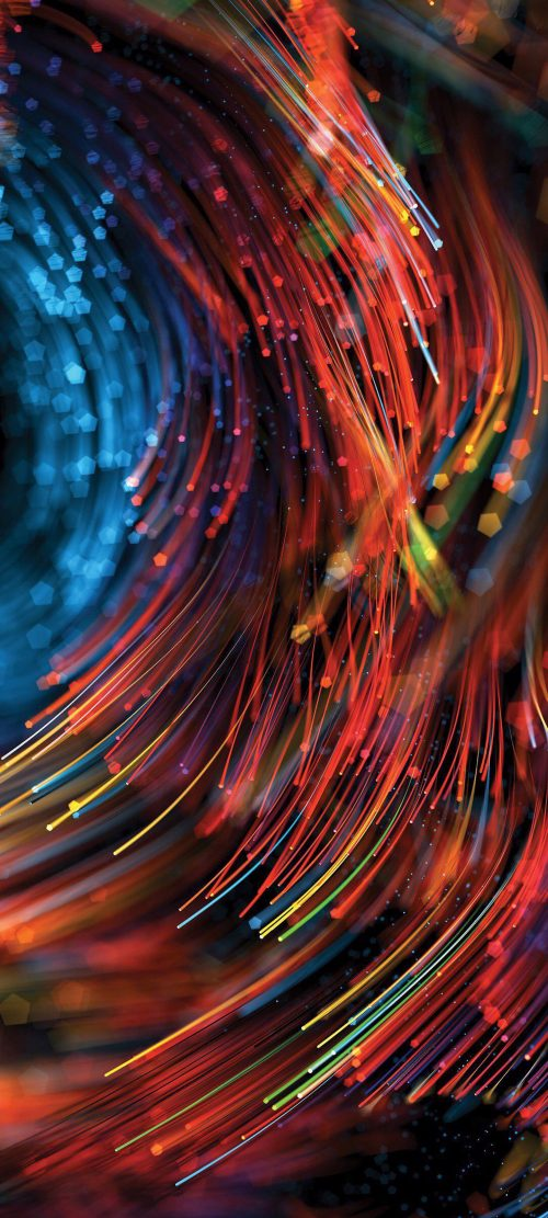 10 Wallpapers That Will Look Perfect on Your Samsung Galaxy S20 - #04 - Colorful Optical Fiber