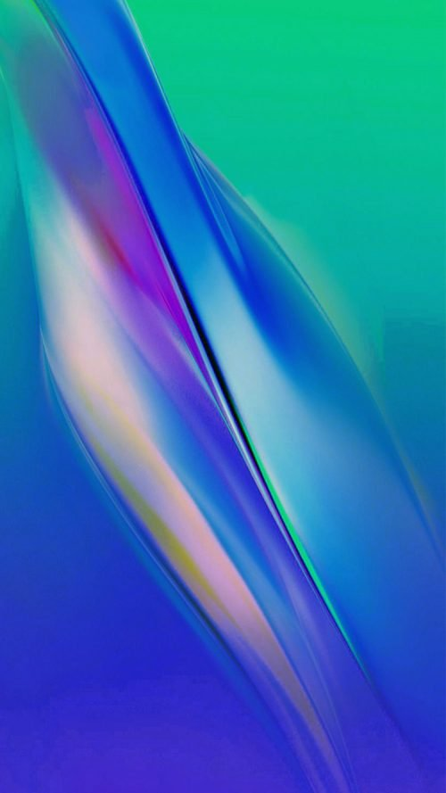 Apple iPhone SE Wallpaper 24 0f 50 - Abstract Green Blue Background