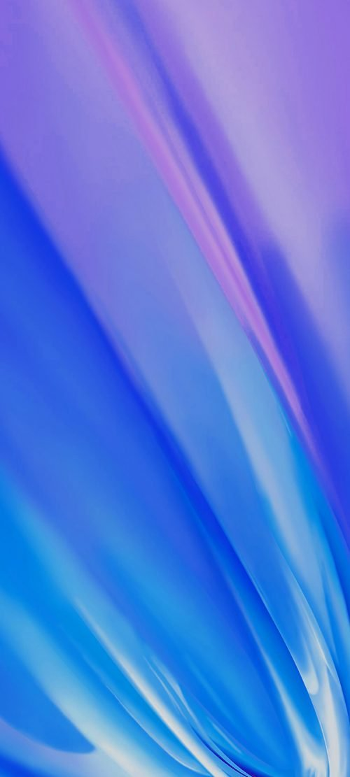 10 Abstract Wallpapers for Realme X3 - 04 - Purple Blue Waves