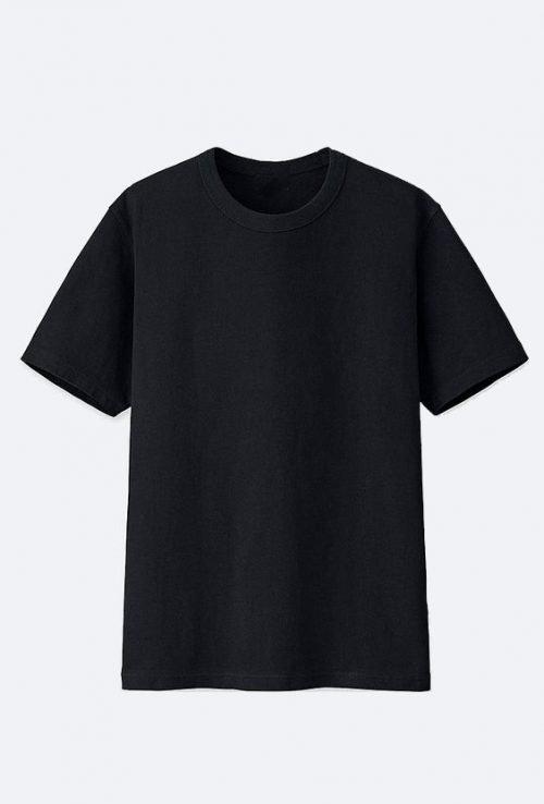10 Blank T-Shirt Template Designs with Portrait Mode - 01 - Men Short-Sleeved T-Shirts - Black