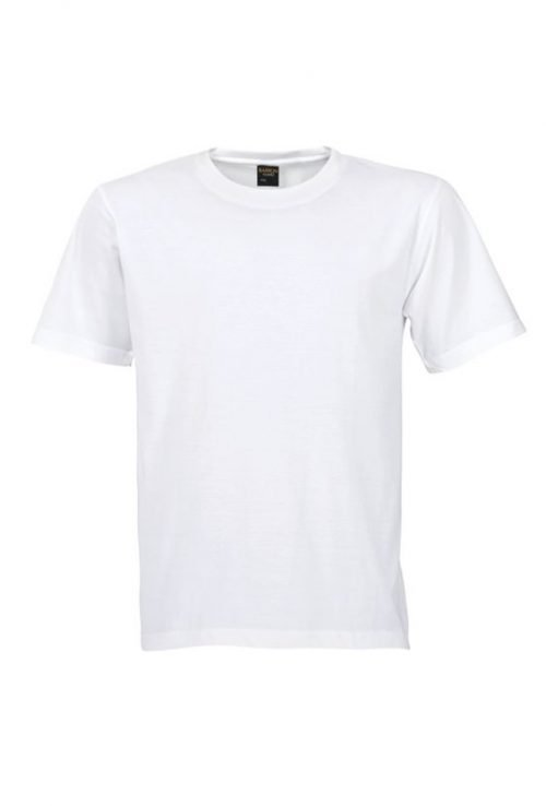 10 Blank T-Shirt Template Designs with Portrait Mode - 02 - Men Short Sleeved T-Shirts - White