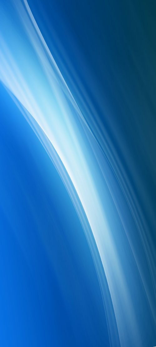 10 Abstract Wallpapers for Realme X3 - 05 - White Blue Waves