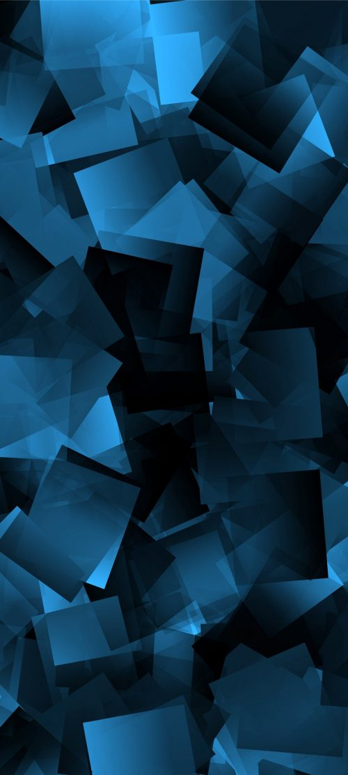 10 Abstract Wallpapers for Realme X3 - 09 - Blue 3D Squares