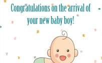 Congratulations Images for Baby Boy with Simple Wishes