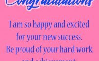 Congratulations for Promotion Images for Girls with Pink Background