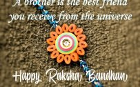 Happy Raksha Bandhan Quotes with A Handmade Rakhi