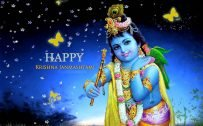 Happy Krishna Janmashtami Greetings Design in High Resolution