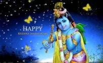 Happy Krishna Janmashtami Greetings Design in High Resolution