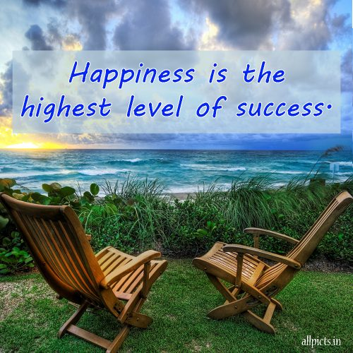 20 Best Friday Thoughts and Inspirational Quotes Wallpapers 03 - Happiness is the highest level of success