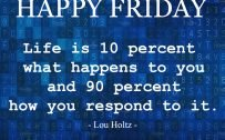 20 Best Friday Thoughts and Inspirational Quotes Wallpapers 07 - Life is 10 percent what happens to you