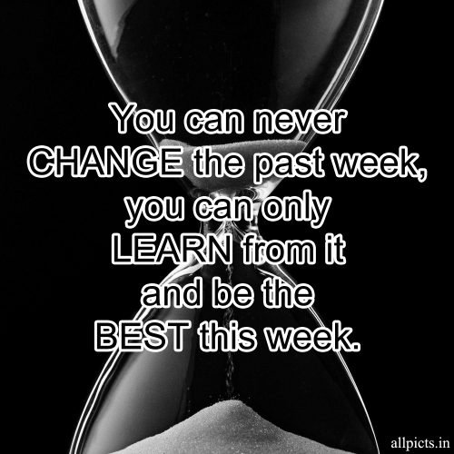 20 Best Monday Thought Wallpapers for Enthusiasm and Motivation 03 - You can never change the past week