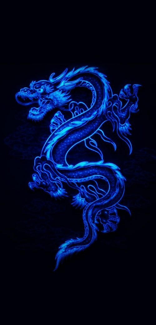 10 Best Wallpapers for Huawei Mate 40 Pro 05 - Animated Blue Dragon