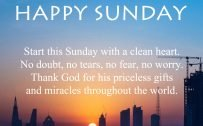 20 Best Sunday Thoughts Images and Inspirational Quotes 11 - Start this Sunday with a clean heart