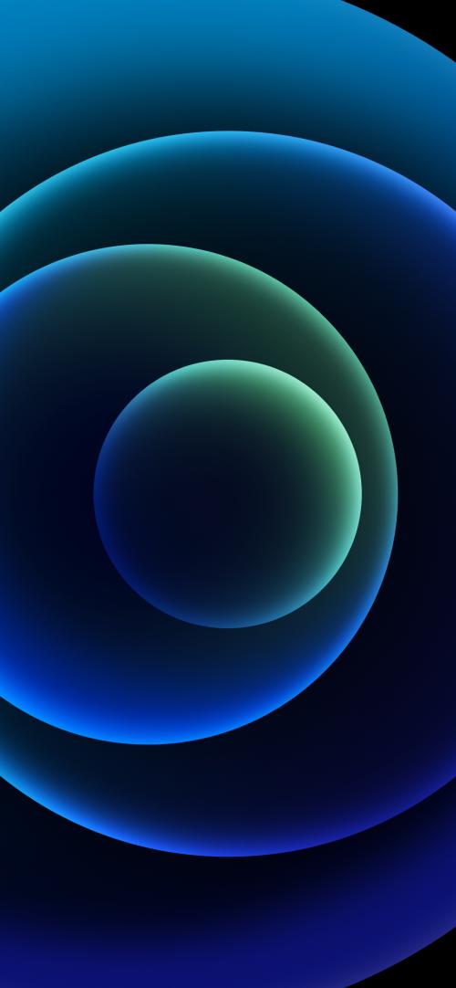Apple iPhone 12 mini - iPhone 12 Pro Max - iPhone 12 Pro - iPhone 12 Wallpaper 03 - Blue Dark