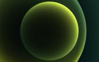 Apple iPhone 12 mini - iPhone 12 Pro Max - iPhone 12 Pro - iPhone 12 Wallpaper 05 - Green Dark