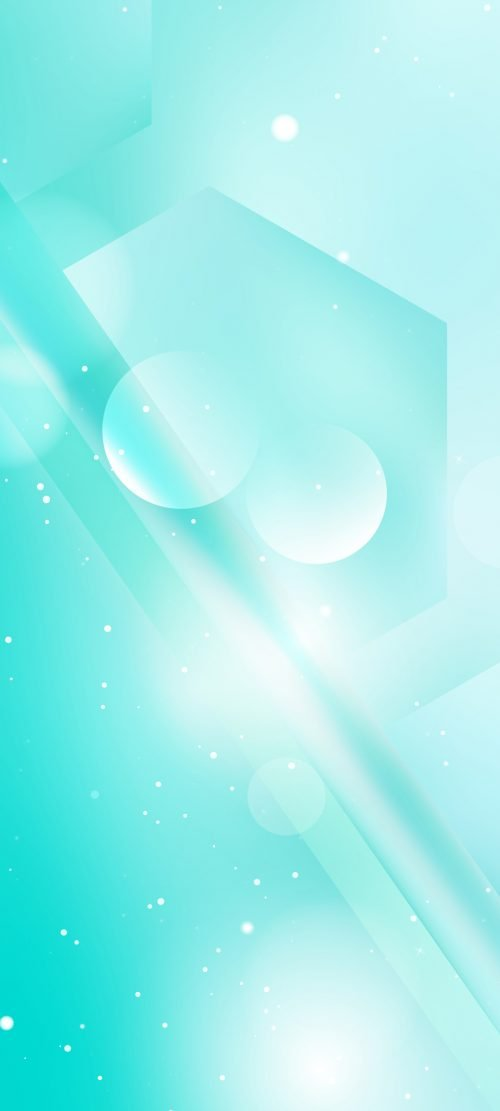 10 Best Alternative Wallpapers for Realme 7 5G 02 - Abstract Turquoise Lights Vector