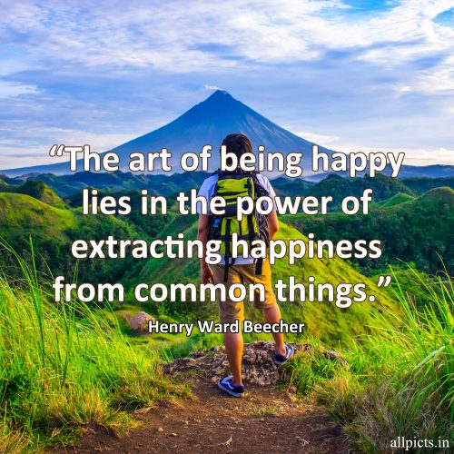 20 Best Wednesday Thought Quotes for Work 10 - The art of being happy