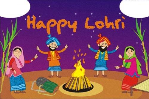 Free Download Lohri Festival Drawing for Children