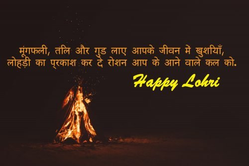 Free Download Picture of Lohri Wishes in Punjabi