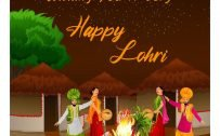 Wishing You A Very Happy Lohri Image for Greeting Card