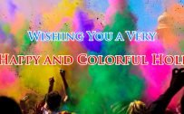 Free Greeting Card Design for Holi Celebration