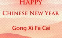 Happy Chinese New Year Background for Greeting Card Design