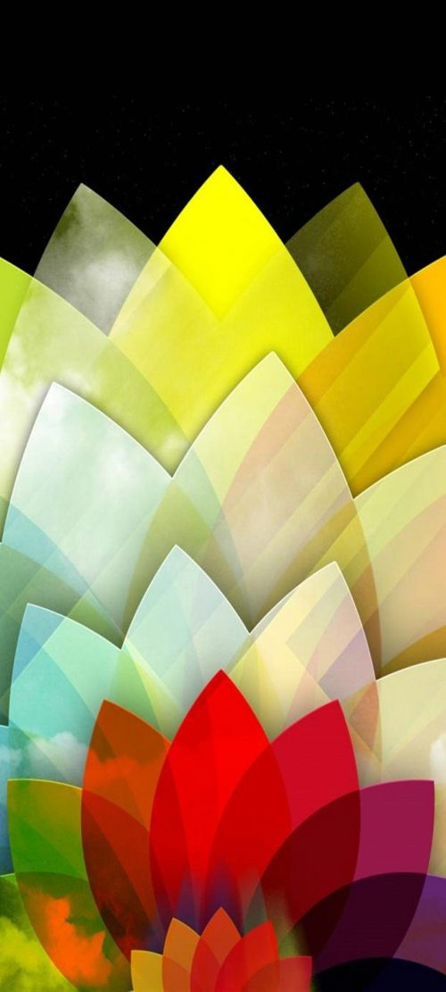 Samsung Galaxy F62 Wallpaper with Colorful Geometric Background