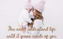 10 Best Baby and New Mom Quotes – 03 – You never understand life until it grows inside of you