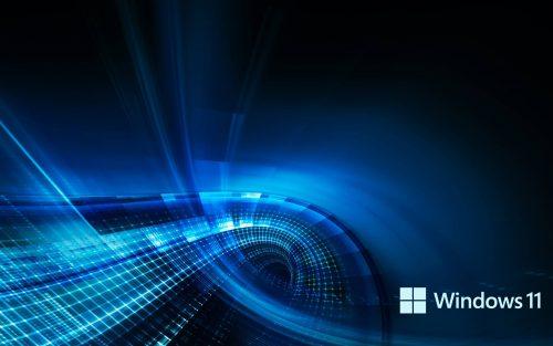 3D Blue Background for Windows 11 Desktop Wallpaper