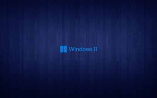 Dark Blue Wood Pattern Background for Windows 11 Wallpaper