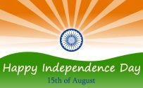 Happy Indian Independence Day Wallpaper with Artistic Design