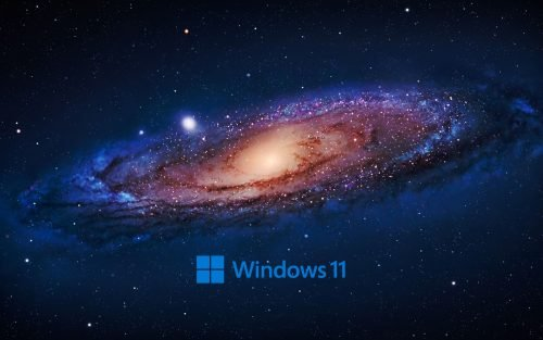 Windows 11 Wallpaper with High Resolution Picture of Galaxy