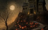 Happy Halloween Wallpaper for Mobile Phone with HD 1920 Resolution