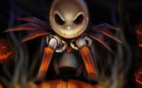 Happy Halloween Greeting Card Design for Mobile Phones